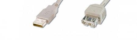 USB-Kabel A-A / Stecker-Buchse