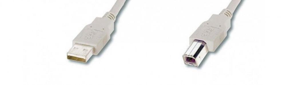 USB-Kabel A-B / Stecker-Stecker