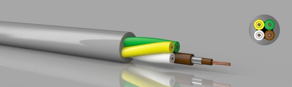 LiY-DY-Y (Flextronic)  PVC, einzeln geschirmte Adern