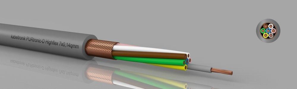 PURtronic-D Highflex PUR-Steuerleitung, hochflexibel, geschirmt