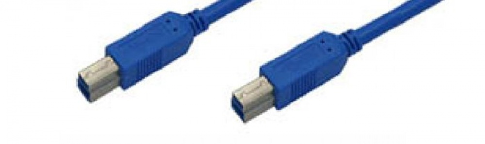 USB-cable B-B / male-male 3.0 certified
