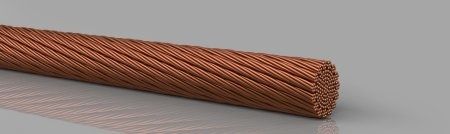 Copper round ropes -  extremely flexible, bare