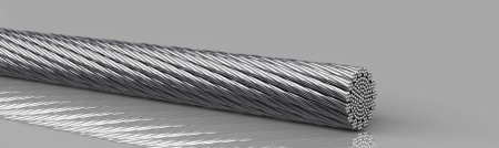 Copper round rope -  extremely flexible, tinned