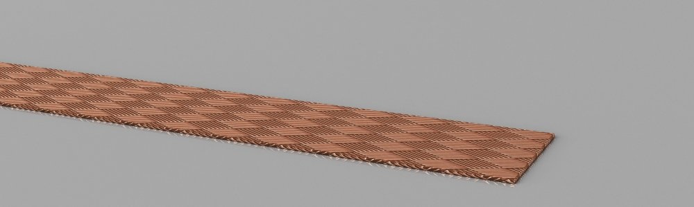 Copper earthing strap  bare